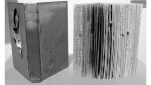 books made of shot pages